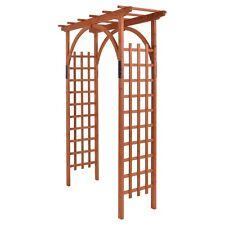 32Lb Outdoor Wooden Cedar Arbor Arch Pergola Trellis Wood Garden Yard Lattice