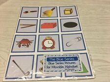 The Blue Series - Pictures For Movable Alphabet - Montessori