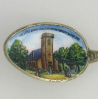 Iowa Souvenir Spoon - Sterling Silver Vintage Collectors Little Brown Church