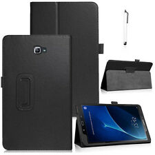 For Samsung Galaxy Tab A A6 10.1 SM-T580 T585 PU Leather Smart Case Cover Black