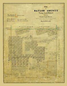 Baylor County Texas - Rosenberg 1859 - 23.00 x 29.40