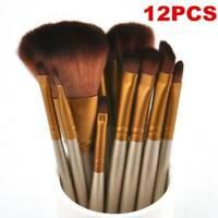 Top Makeup 12pcs Brushes Set Powder Foundation Eyeshadow Eyeliner Lip Brush Tool