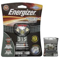 Energizer Stirnlampe Headlight 2x rot 3x ws,  Kopflampe 315 lm Vision HD+ Focus