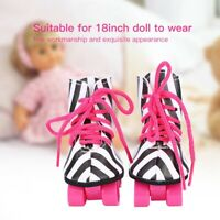 Fashionable Toy Doll Roller Skates Rollerskates Shoes for 18″Dolls Accesories❤ut