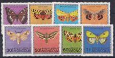 Mongolia 1974 Farfalle 695-702 MHN