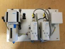 Festo Pneumatic Filter & Pressure Control Valve Setup, Aluminum Mounted