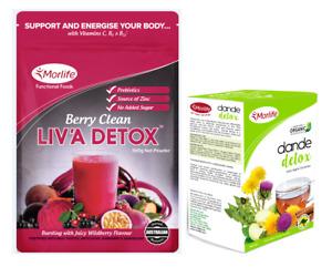 Morlife Berry Clean Liva Detox Powder 300g | Weightloss FREE Dande Detox Tea