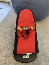 BabyBjorn Soft Bouncer With Toy Bar- Black/Red