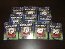 DEALER LOT OF 10 ELBY TIMELESS MAGNET MINI JERSEY CHRIS DRURY 37 CALGARY FLAMES