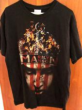 MARILYN MANSON tour T shirt large NWT shock-rock burning crown flag USA new