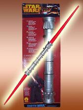 Darth Maul doble-espada láser rojo luz espada Star Wars leuchtschwert m luz