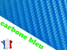 Adhésif Carbone bleu film thermoformable 100 x 200 covering auto moto tuning