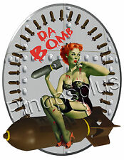 Pinup Girl Waterslide Decal Sticker Zombie Bomber Art Nose Art  S837