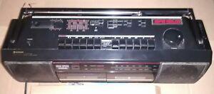 Hitachi Stereo Radio Dual Cassette RecorderTRK-W350-HC Graphic Equalizer Boombox