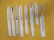 Thirteen (13) NOS Assorted Milwaukee Sawzall Saw Blade / Wrecker / Torch
