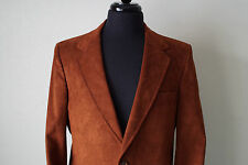 Vintage Gongaware-Long, Inc. Greensburg PA Brown Velour Blazer Union Made in USA