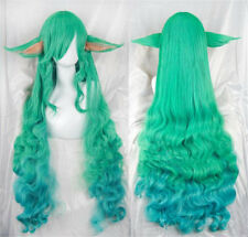 League of Legends LOL Soraka Star Guardian Game Cosplay Long Hair Wig + Ear Cute