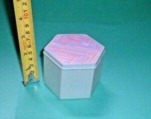 "Strata Hexagon Trinket Box by  John Clappison ""  1981/3. Rare."" (1755)"