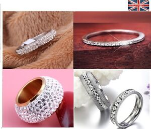Sterling Silver Filled Women Wedding Engagement Ring
