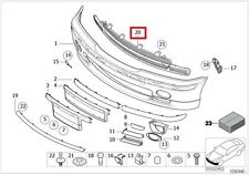 Genuine BMW 3 Series E46 Sedan Front Bumper Center Grill Grid OEM 51112492213