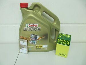MANN Ölfilter und 5Ltr. CASTROL 5W30 Motoröl Opel Astra J