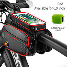 Touchscreen Bike Double Pouch Cycling Top Tube Frame Storage Bag For Cell Phone
