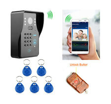 Wireless WiFi Video Intercome Video Door Phone ID keyfobs/ Keypad/Remote Unlock