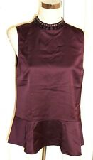 BNWT Reiss Women's Purple Acorn Embellished Top. UK Size 12. RRP £115