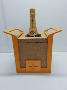 Veuve Cliquot Advertising Collectable Orange Cork Metal Single Bottle Ice Bucket