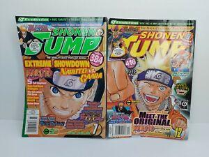 SHONEN JUMP Magazine July  Volume 5 Issue 7and Dec 2007 Volume 5 Issue 12 Lot
