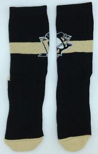 NHL Pittsburgh Penguins Men's Team Logo Crew Socks NEW!
