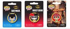 DC Comics Pop! Pins Set of 3 Batman, Harley Quinn, & Flash flair by FUNKO