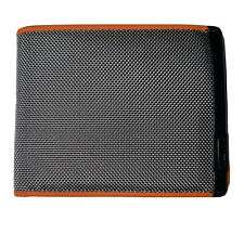New TUMI RFID Global Wallet with Coin Pocket Gray/Orange