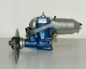 MODEL PLANE ENGINE O.S LA 10 WITH EXHAUST FOR RESTORATION