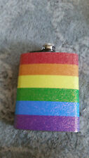 Rainbow colors liquor hip flask