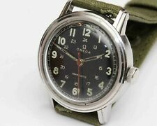 1943 WWII vintage OMEGA MEN'S MILITARY WRISTWATCH - Stainless Steel - EXCELLENT