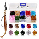 QualyQualy Fishing Beads Assorted, Hard Plastic Glass Beads Red Yellow Mix Color