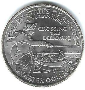 2021-P Philadelphia Brilliant Uncirculated Washington Delaware 25C Coin!