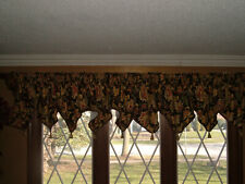 """HUGE CUSTOM ONE PIECE VALANCE 260"""" Length FULLY LINED and BRAIDED withTassels"""
