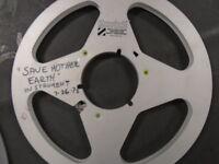 """Scotch Old NAB HUB Metal Aluminum Take Up Reel  Master 1/4"""" 1/4 no tape 10.5"""""""