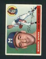1955 Topps #31 Warren Spahn VGEX Braves 126081