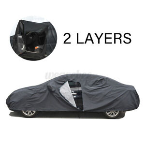 XXL 2 Layer Full Car Cover Waterproof All Weather Sun UV Rain Dust Protection US