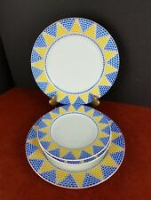 4pcs dinner salad/bread plates Pier 1 Quadrifoglio Italy dinnerware dishes