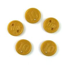 *NEW* Lego Coins Gold '10'  Coin Treasure Money Cash for Figs Figures - 5 pieces