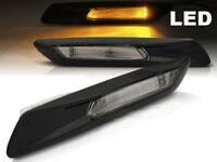 LED Paar Seiten Repeater Pfeile Gems GLOSSY SCHWARZ BMW F10 2010 - 2013 M3C1DE M