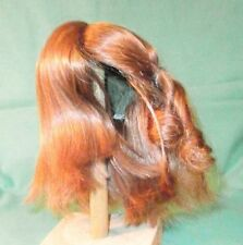 "Light red human hair doll wig, 12"" to 13"", shoulderlength hair"