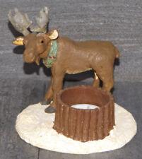 Weihnachten Deko Weihnachtsschmuck Elch Polyresin Teelicht 11,5*12 cm