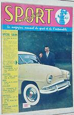 SPORT MONDIAL N°20 1957 SPECIAL SALON AUTO MOTO CYCLISME FOOTBALL INDIANAPOLIS