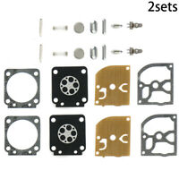 2 Sets Carburettor Carb Gasket Diaphragm Kit For Stihl MS170 MS180 Zama RB-77