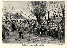 1914 Ostpreußen * Kämpfe bei Lyck * Russische Gefangene werden abgeführt *  WW1